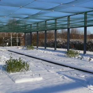 Lysimeterstation im Winter