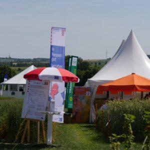 Der LLH war auch optisch gut vertreten: Schirmen, Fahnen, Beach-Flags und Poster mit zahlreichen Infos für die Besucher