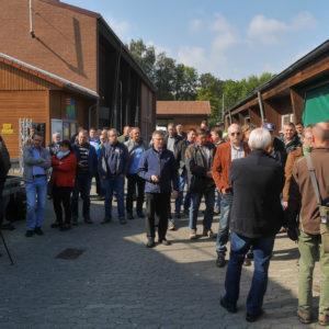 Besichtigung der Fermenterreinigung und -sanierung auf dem Eichhof