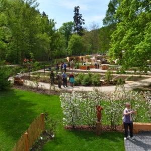 Die drei Themenbereiche Stadt, Land und Garten bilden den Beratungsgarten des Landes Hessen auf der Landesgartenschau, der vom LLH und den Freizeitgarten Verbänden betreut wird. (Foto: Klaus Diehl, LLH)