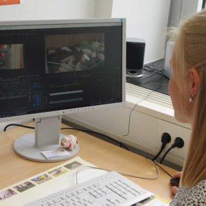 Mithilfe eines speziellen Programms erfolgt die Videoanalyse.