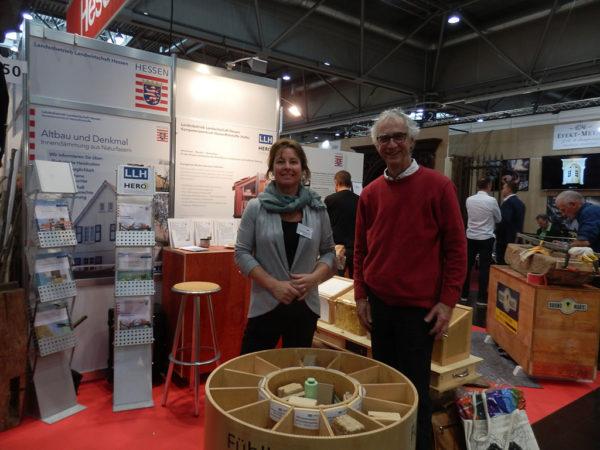 Christiane Braun (LLH) mit Michael Braun, Vorsitzender vom NetzwerkLehm, Mitglied im HeRo e.V.