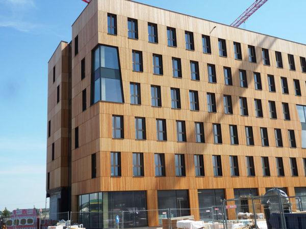 Mehrgeschossiges Gebäude in Holzbauweise in Wien