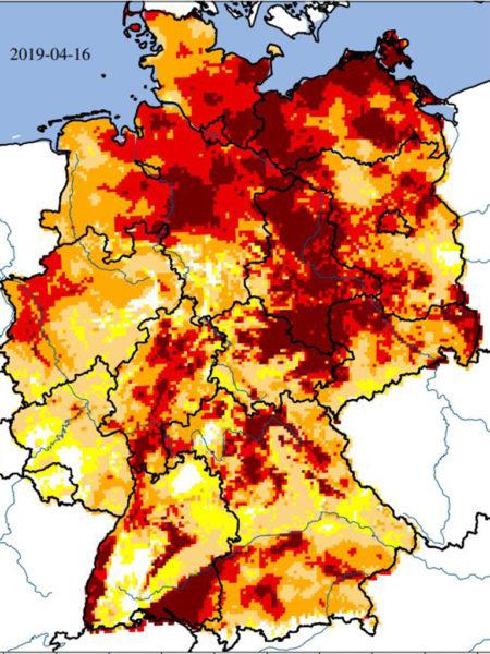 Deutschlandkarte UFZ Dürremonitor