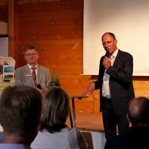 Klaus Wagner (LLH) und Thomas Ranft auf der Bühne