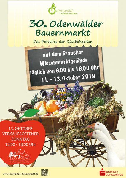Plakat zum 30. Odenwälder Bauernmarkt (Sparkasse)