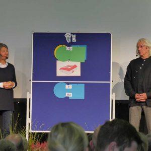 Susanne Fischer und Erhard Reichsthaler referierten in kurzweiliger Weise über das Zusammenleben auf einem landwirtschaftlichen Betrieb