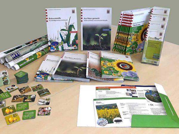Auswahl von Bildungsmaterialien, entwickelt im Fachgebiet Biorohstoffnutzung HessenRohstoffe (HeRo)