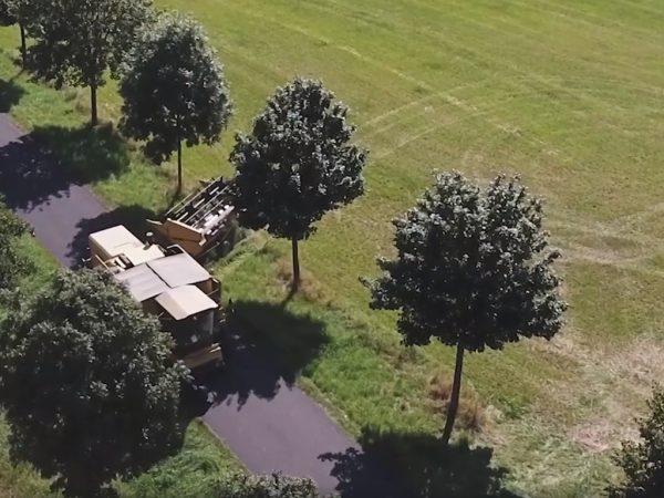 Getreideernte (Luftaufnahme)