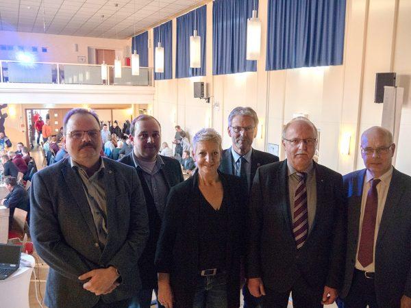 Die Organisatoren des Forum Landwirtschaft gemeinsam mit den Referenten
