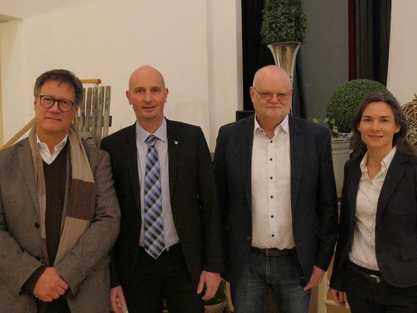 v.l.n.r.: Uli Natterer, Volker Lein, Dr. Herwig Köhler, Prof. Dr. Jana Zinkernagel