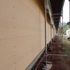 Außendämmung mit Holzfaserdämmplatten