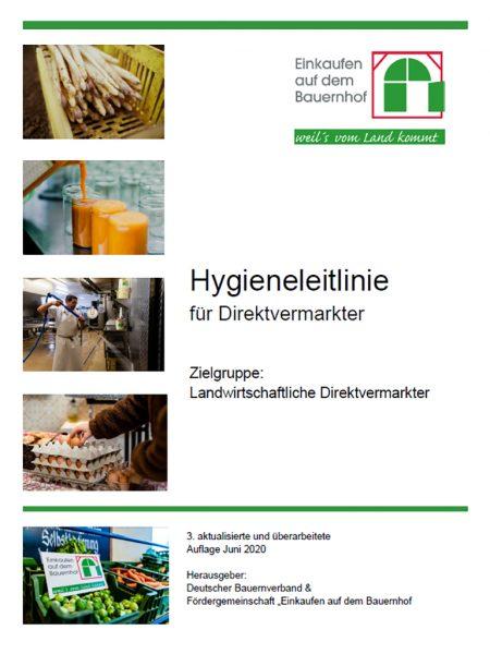 Hygieneleitlinie für Direktvermarkter des Deutschen Bauernverbandes &  der Fördergemeinschaft