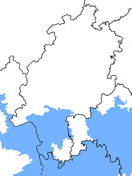 Durum-Anbaugebiete in Hessen; Quelle: bearbeitet nach JKI 2008