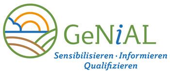 Logo: GeNIAL - Projekt GeNIAL - Bildung zur nachhaltigen Anpassung der Landwirtschaft in Deutschland an den Klimawandel