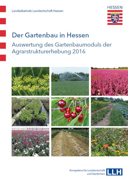 """""""Der Gartenbau in Hessen - Auswertung des Gartenbaumoduls der Agrarstrukturerhebung 2016"""", Titelblatt"""