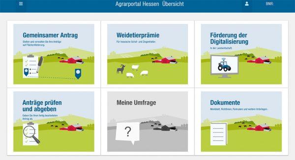 Screenshot Agrarportal Hessen