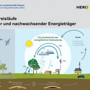 Poster: CO2-Kreisläufe fossiler und nachwachsender Energieträger