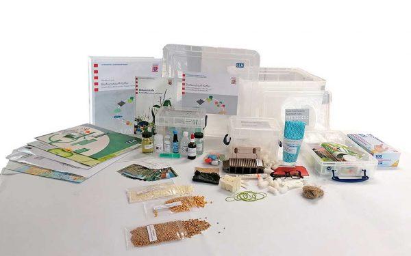 Inhalt des Lernkoffers zu Biokunststoffen