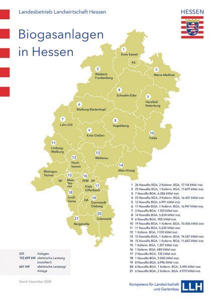 Grafik: Biogasanlagen in Hessen