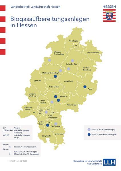 Grafik: Biogasaufbereitungsanlagen in Hessen