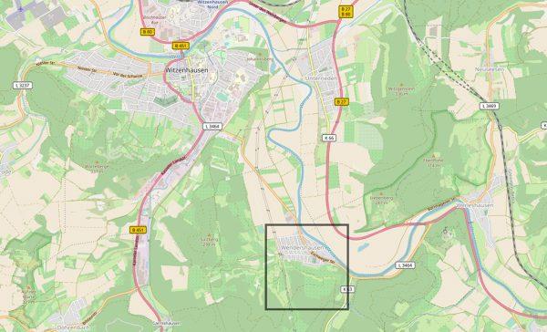 Witzenhausen-Wendershausen (OpenStreetMap)