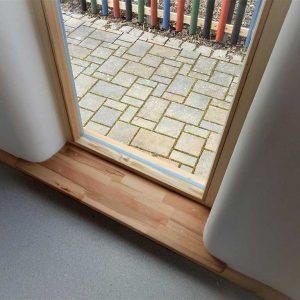 Abgerundete Fensterfaschen beugen Abstoßungen vor und lassen mehr Lichteinfall zu