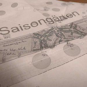 Entwurfsskizze auf Papier