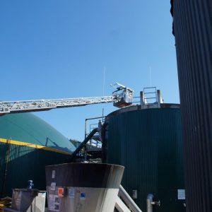 Rettungseinsatz neben der Biogasanlage