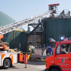 Brandschutzübung am Landwirtschaftszentrum Eichhof