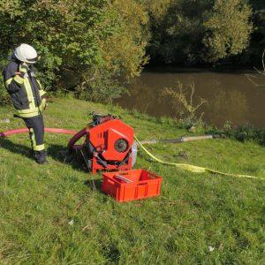 Wasser wird aus der benachbarten Fulda geholt